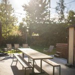 Modern table and Benches for patio